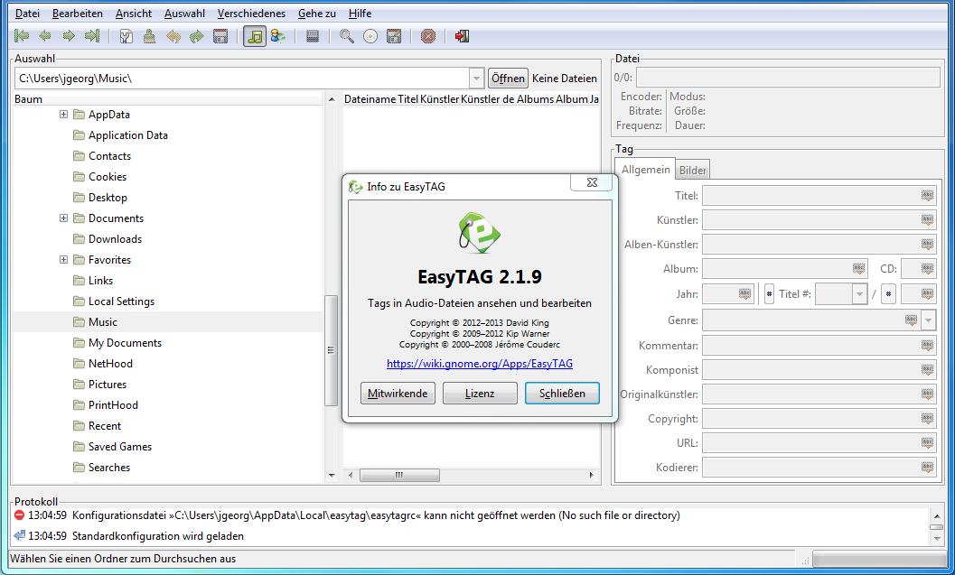 EasyTag (audio metadata editor).