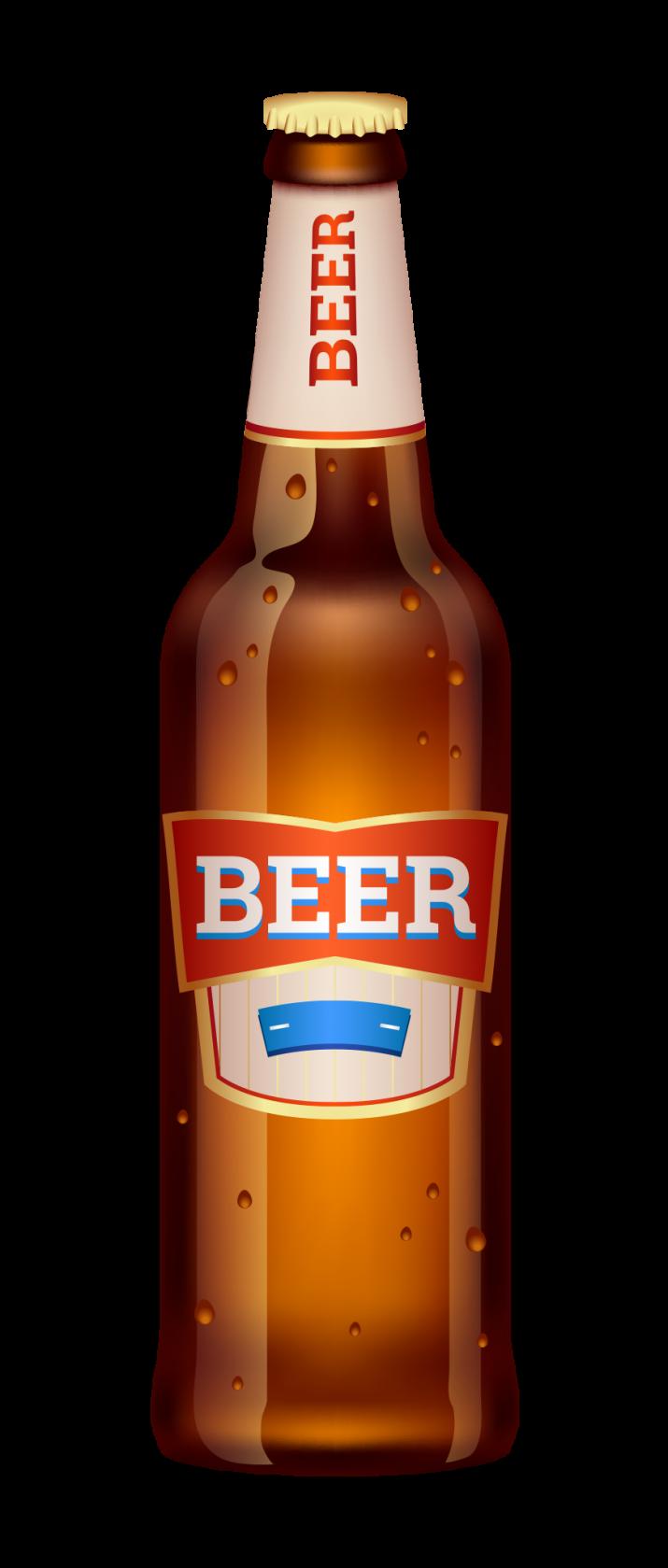 Beer Bottle Transparent PNG.