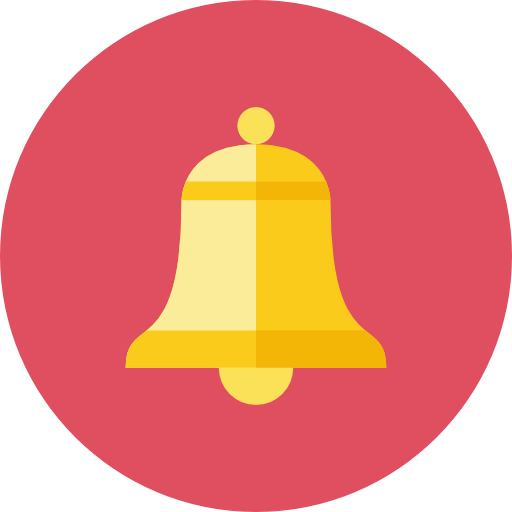 Bell Icon PNG Transparent Image.