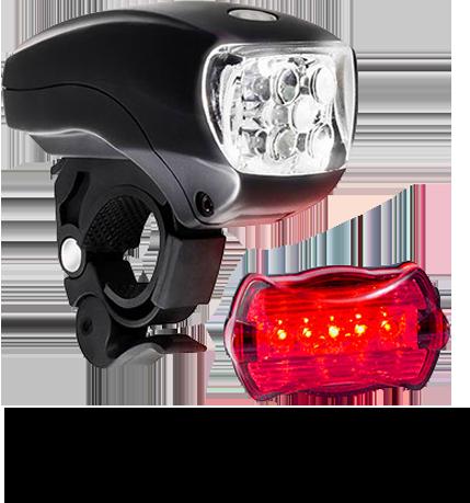 5 LED Bike Light Set.