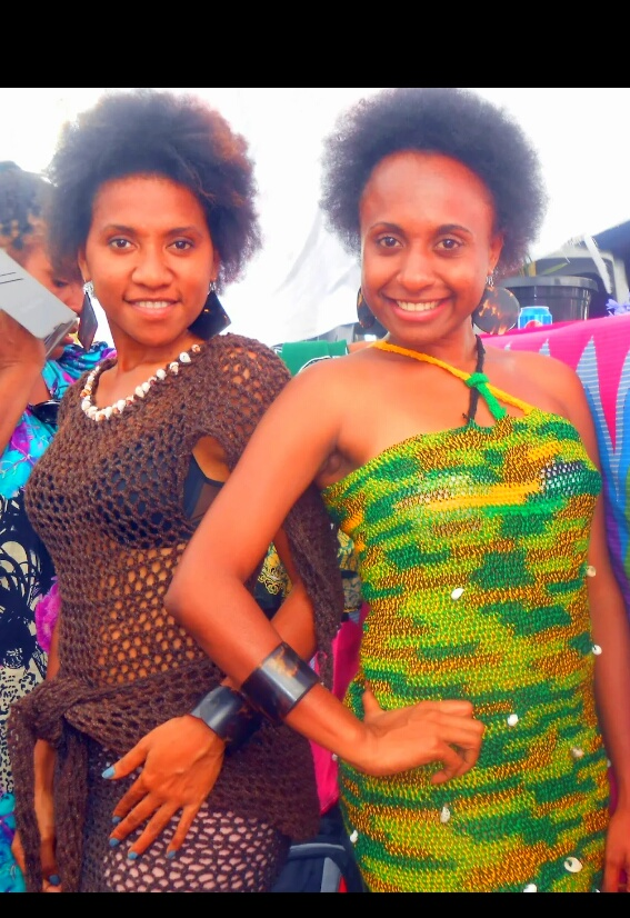 Bilum wear Expo in Papua New Guinea.