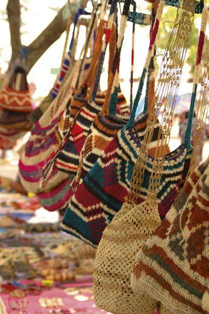 Bilums Bags for sale at Koki Market, National Capital.