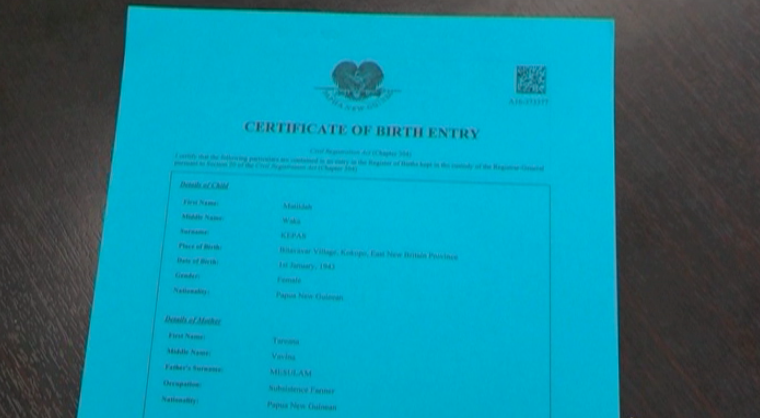 NID Boss issues recall for old Blue Birth Certificates.