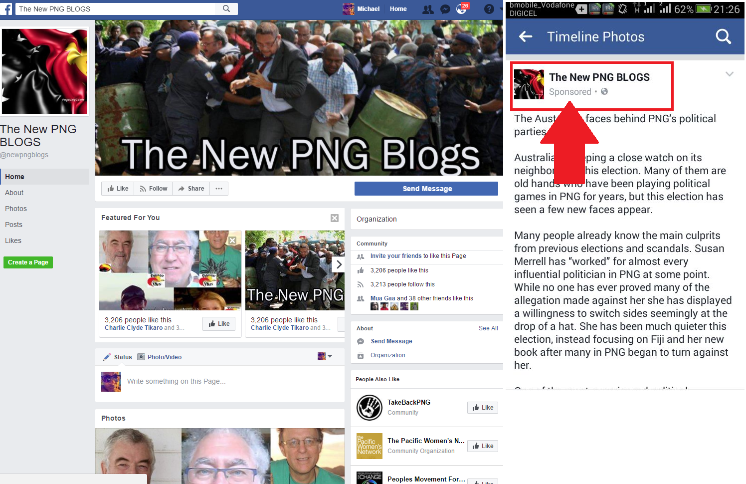 PNC MEDIA TEAM CREATE FAKE PNGBLOGS FACEBOOK PAGE TO SMEAR.