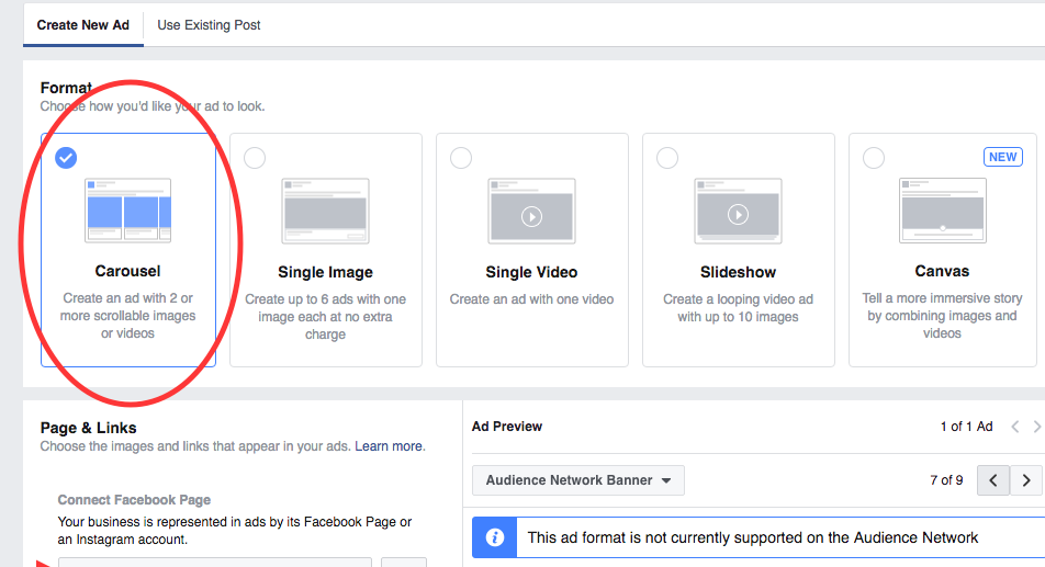 How To Create, Customize & Edit A Facebook Carousel Ad.