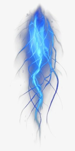 Lightning Blue Light Effect Background Material, Lightning.