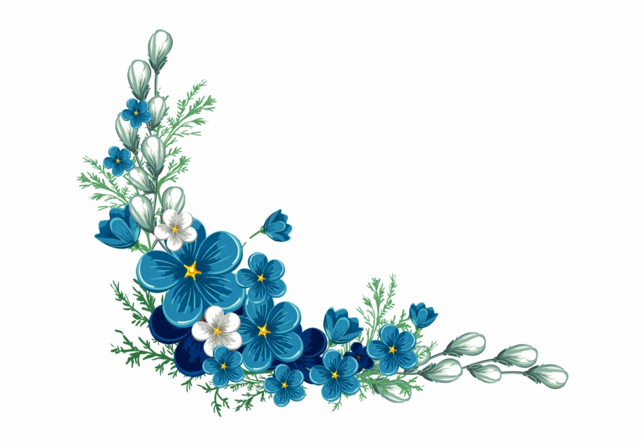 Blue Flower Transparent Background Free PNG Images & Clipart.