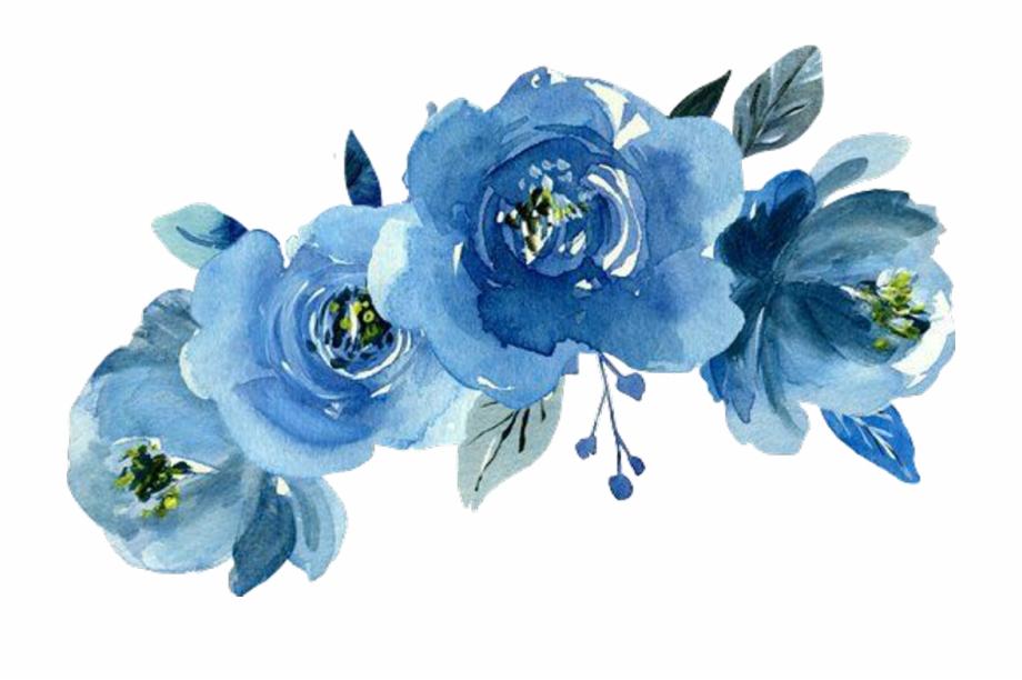 Transparent Blue Flower Crown.