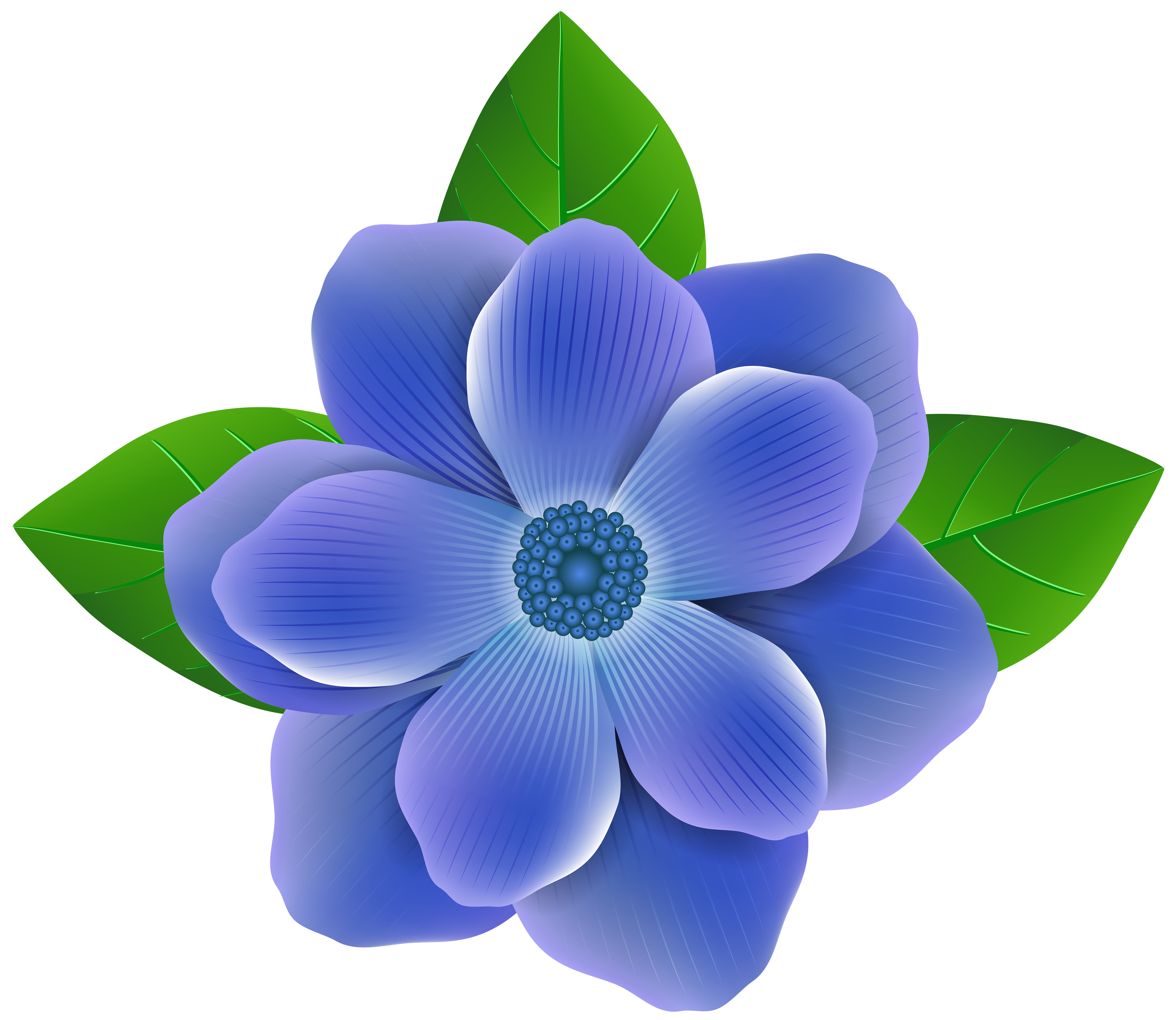 Blue Flower PNG Clip Art Image.