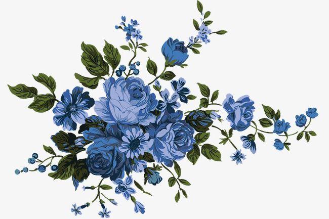 Blue Flowers, Flower, Flowers, Blue PNG Transparent Clipart.