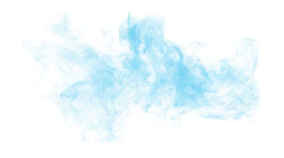 Blue Smoke Background Png.