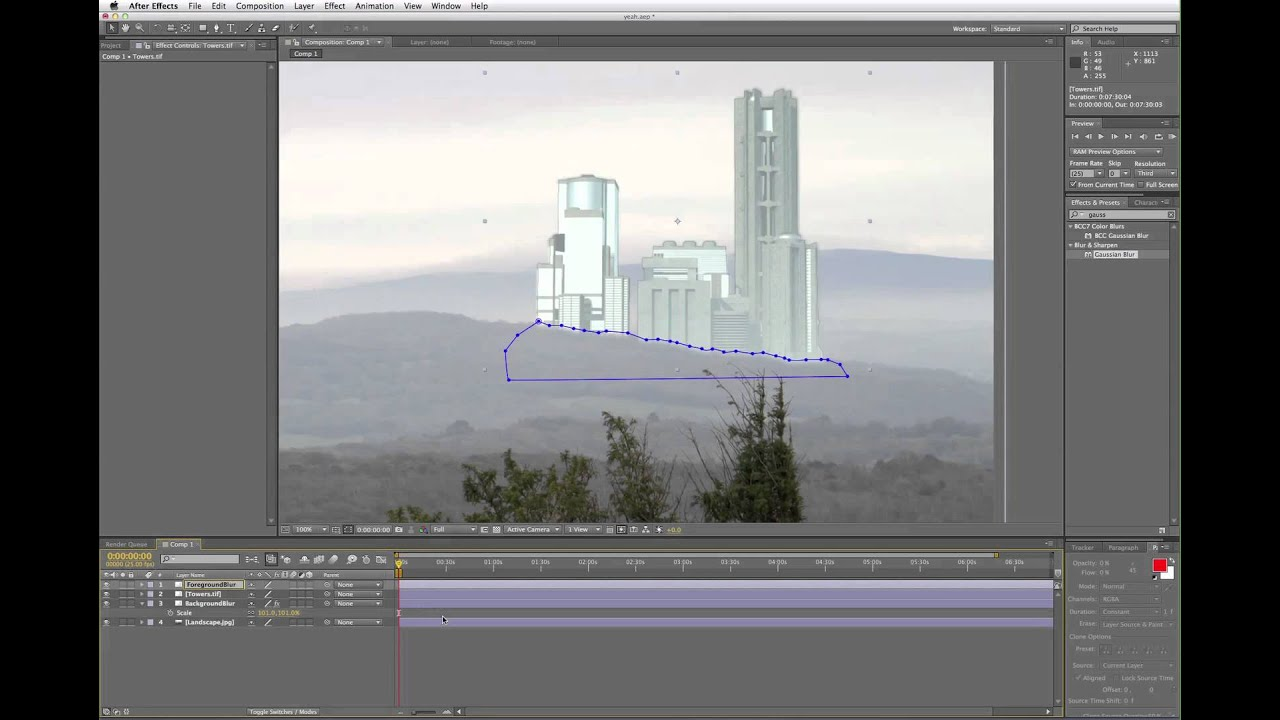 Create an Edge Blur in After Effects.
