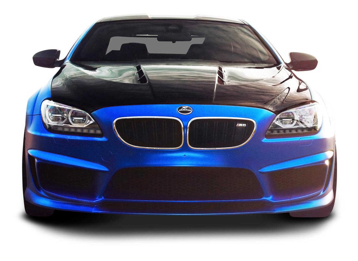 BMW M6 Blue Car PNG Image.