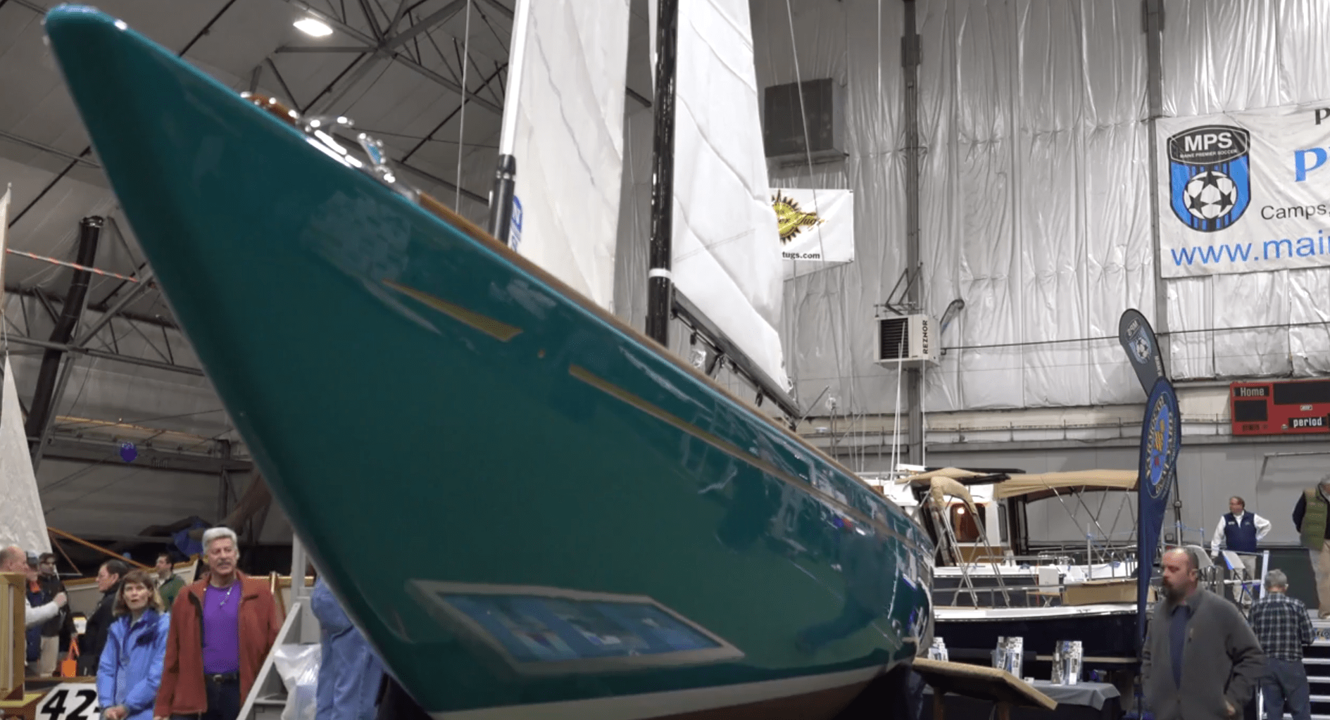 Marine Composites on Display at 2018 Maine Boat Builders Show.