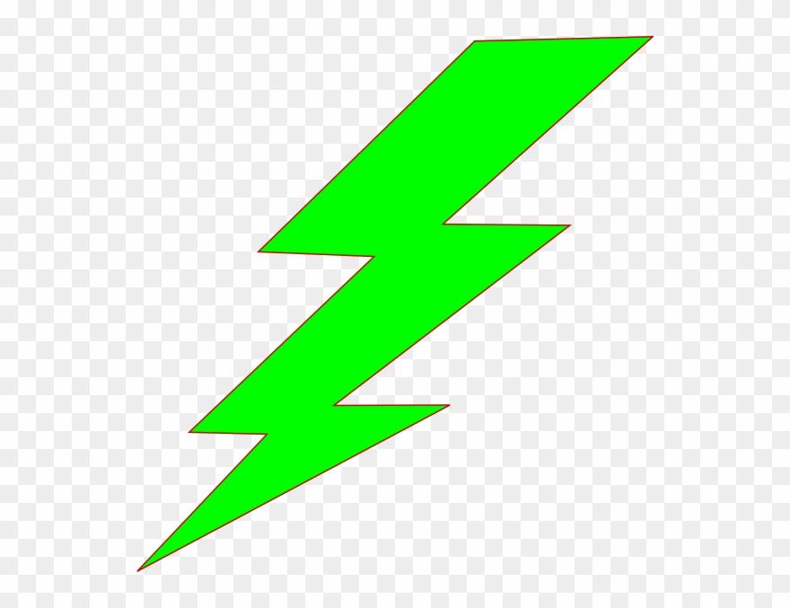 Green Lightning Bolt Clipart.