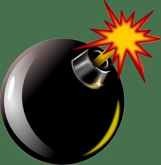 Bomb Clipart transparent PNG.