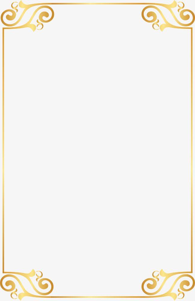 Gold Border Pattern Elements, Golden, Pattern, Frame PNG.