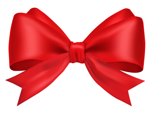 Red Ribbon Bow Png Vector, Clipart, PSD.