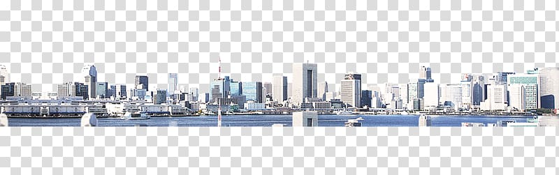 Cityscape of buildings near body of water, Business Building.