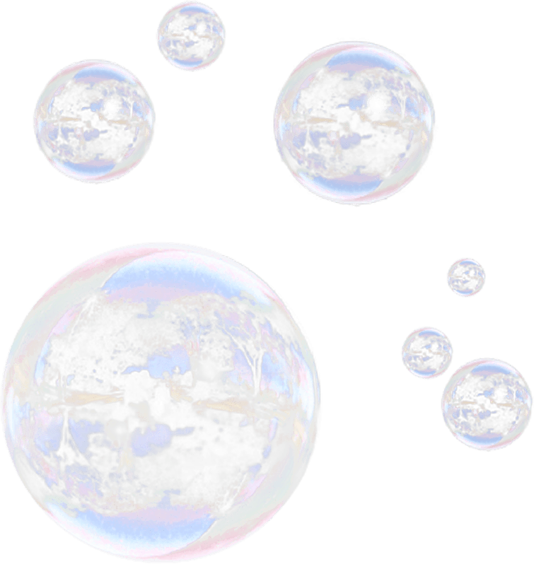 Burbujas PNG transparente.