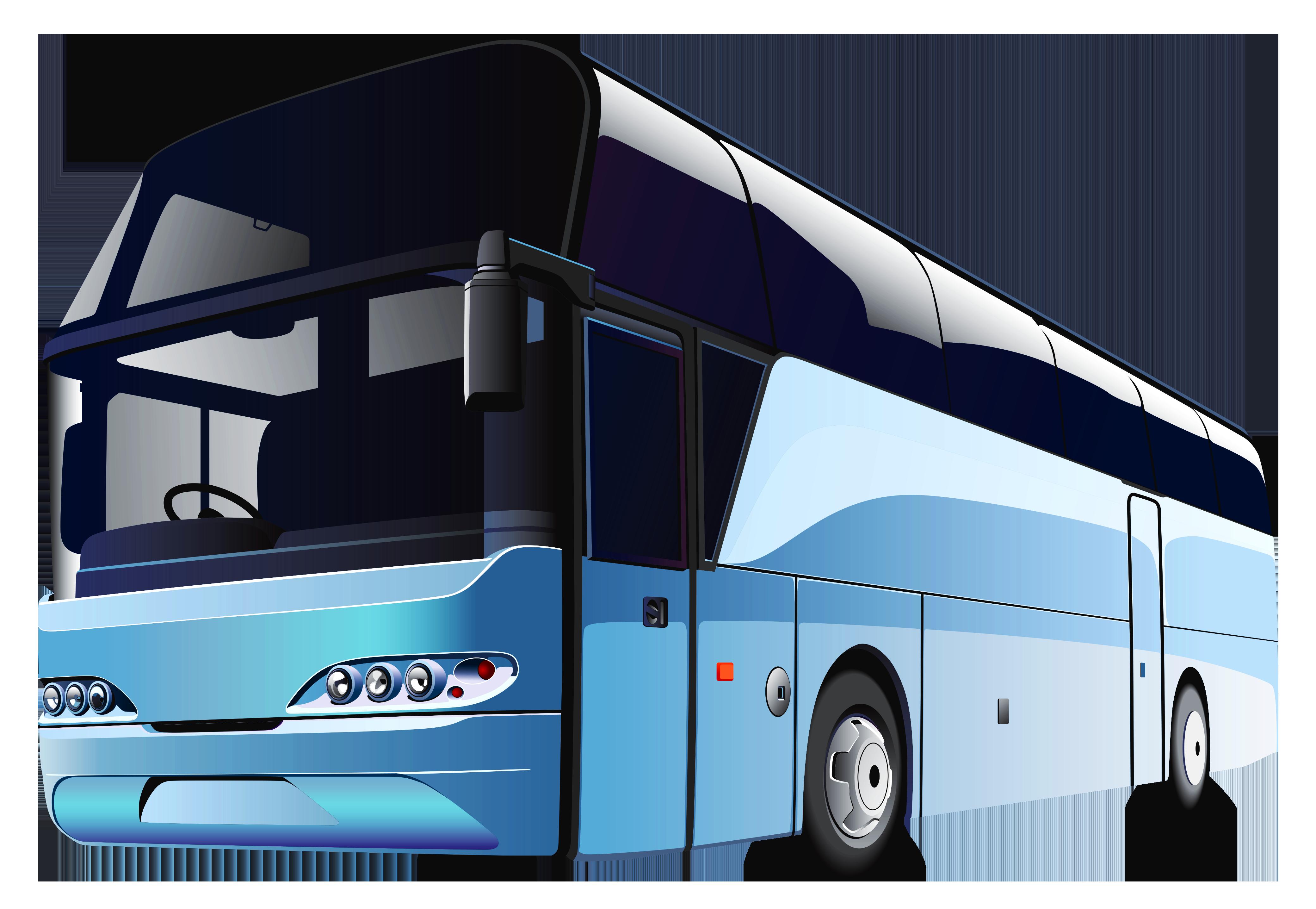 Blue Bus PNG Clipart.