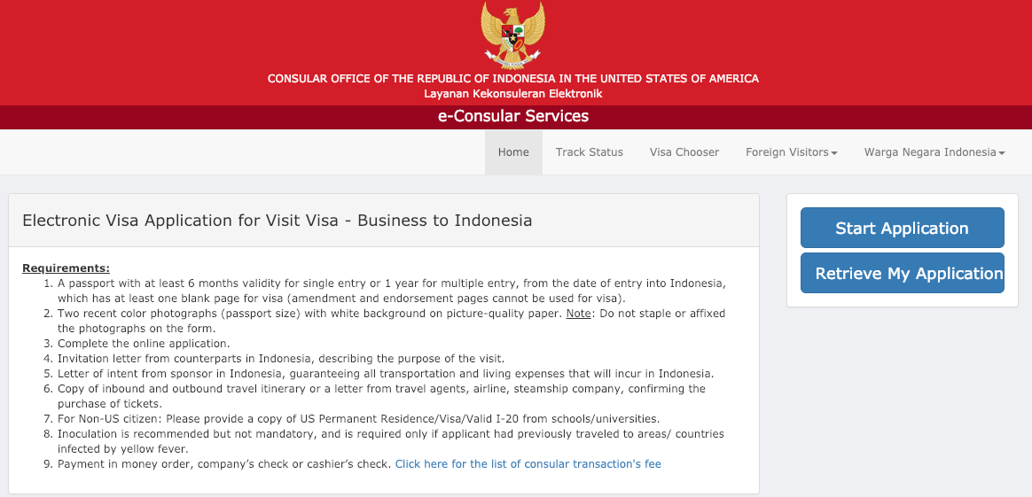 How do I edit my completed Indonesia visa application form.