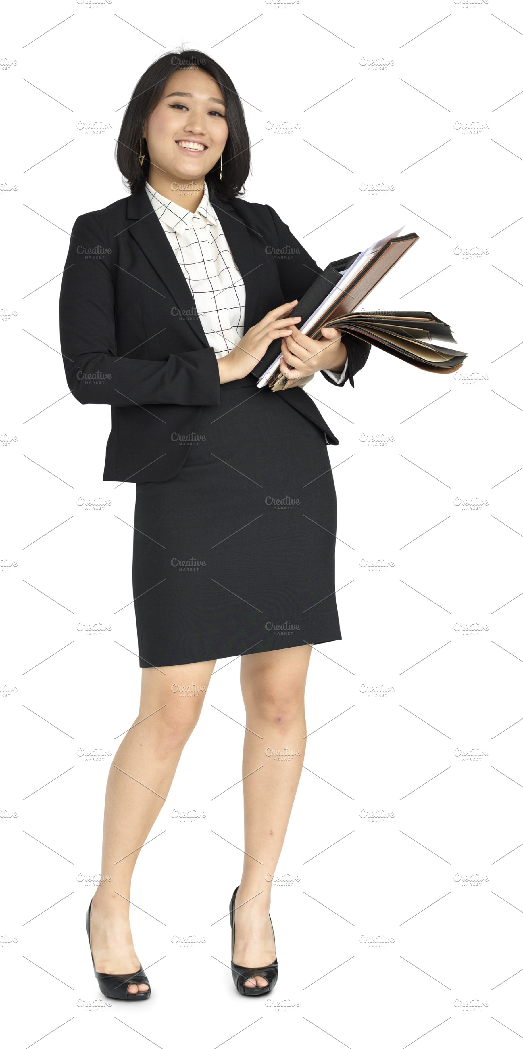 Asian Business Woman (PNG).