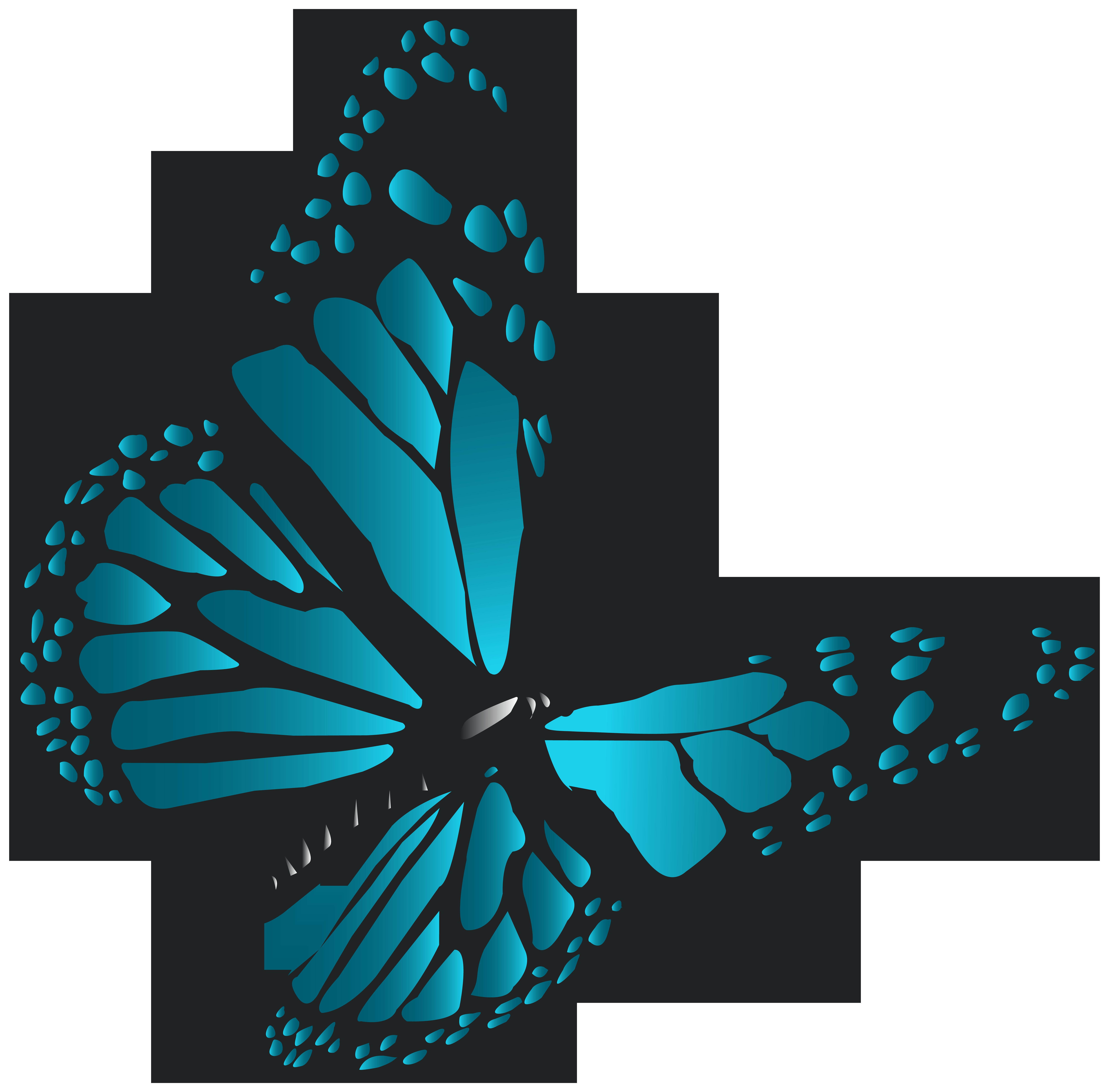 Blue Butterfly PNG Clip Art.
