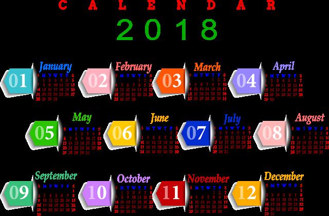 Download Calendar 2018 PNG Pic 062.