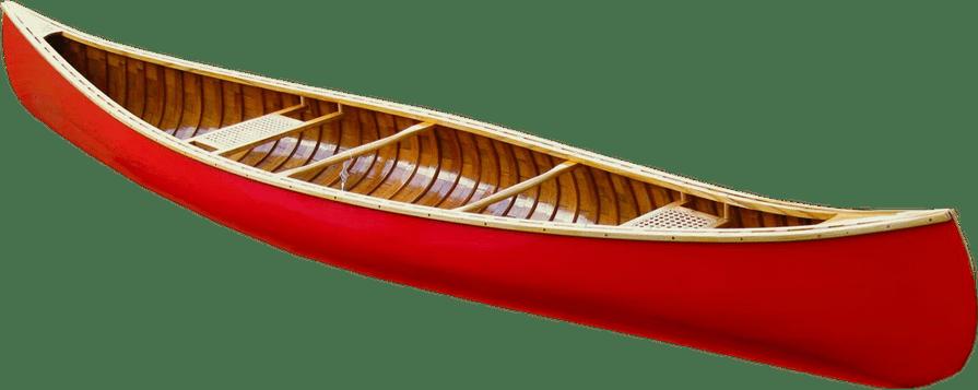 Red Canoe no background transport image.