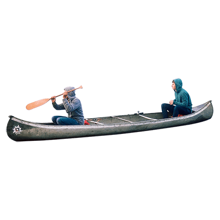 Two People on A Canoe transparent PNG.