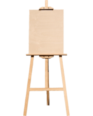 Blank Canvas on Easel transparent PNG.