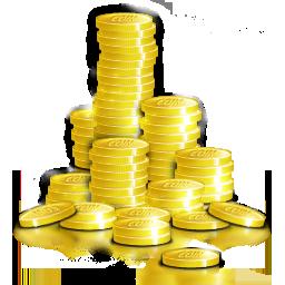 Cash, coins, funding, money, venture capital icon.
