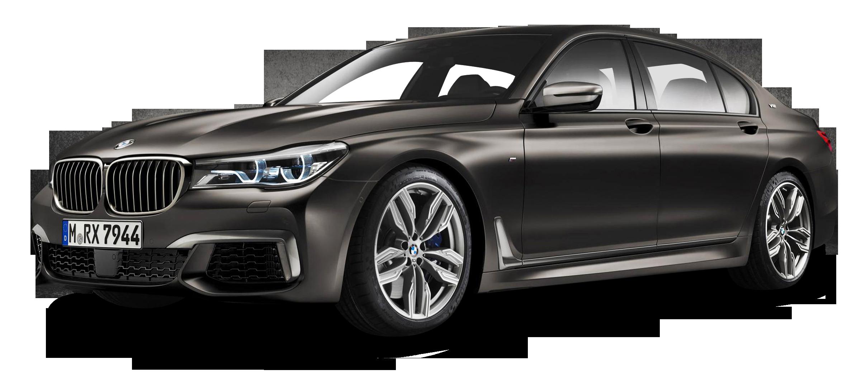 Black BMW M760Li xDrive Car PNG Image.