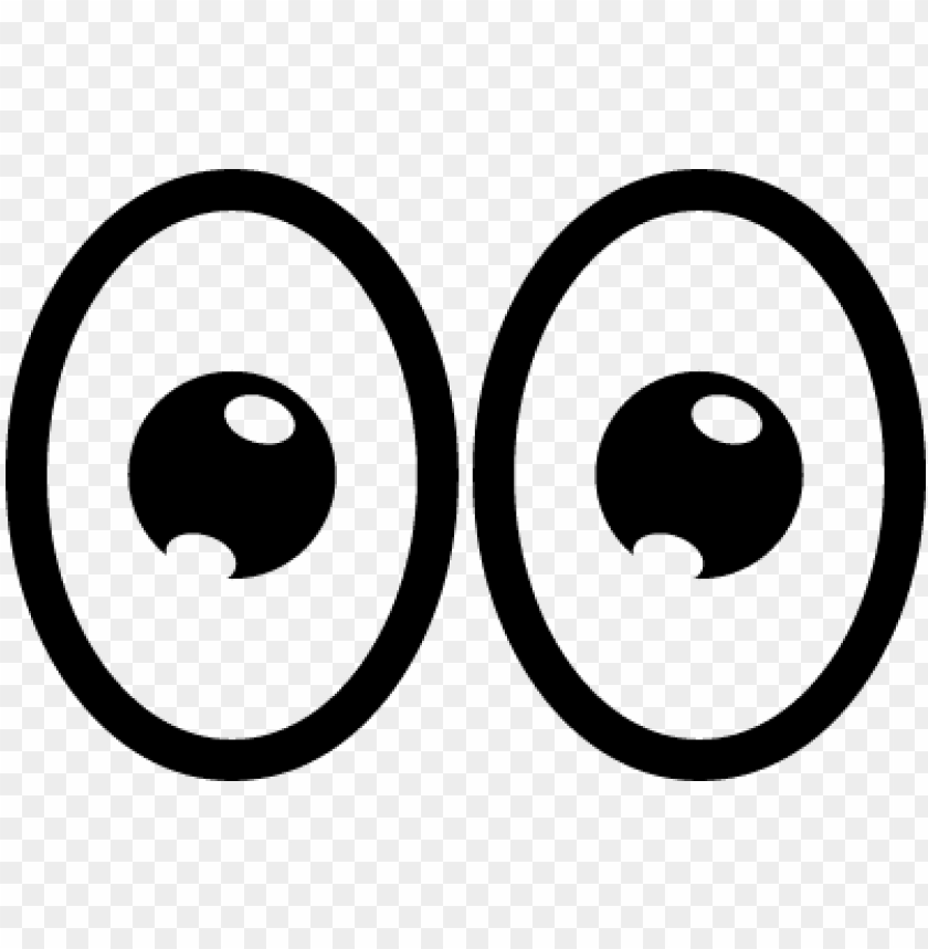 cartoon eyes PNG image with transparent background.