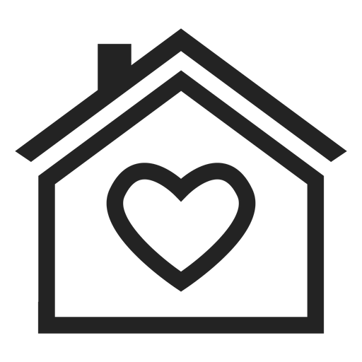 Home with a heart icon.