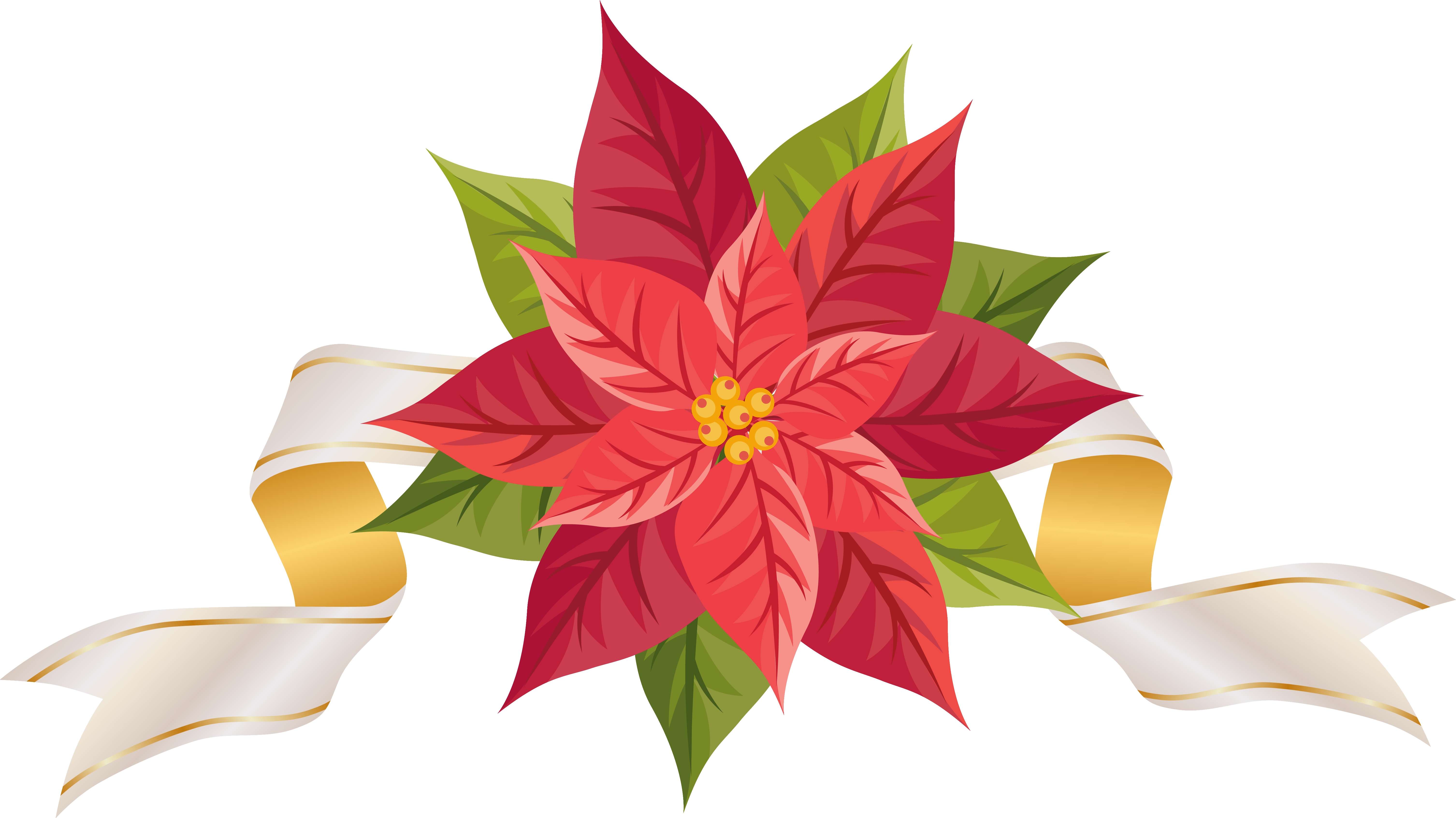 png christmas poinsettia clipart clipground
