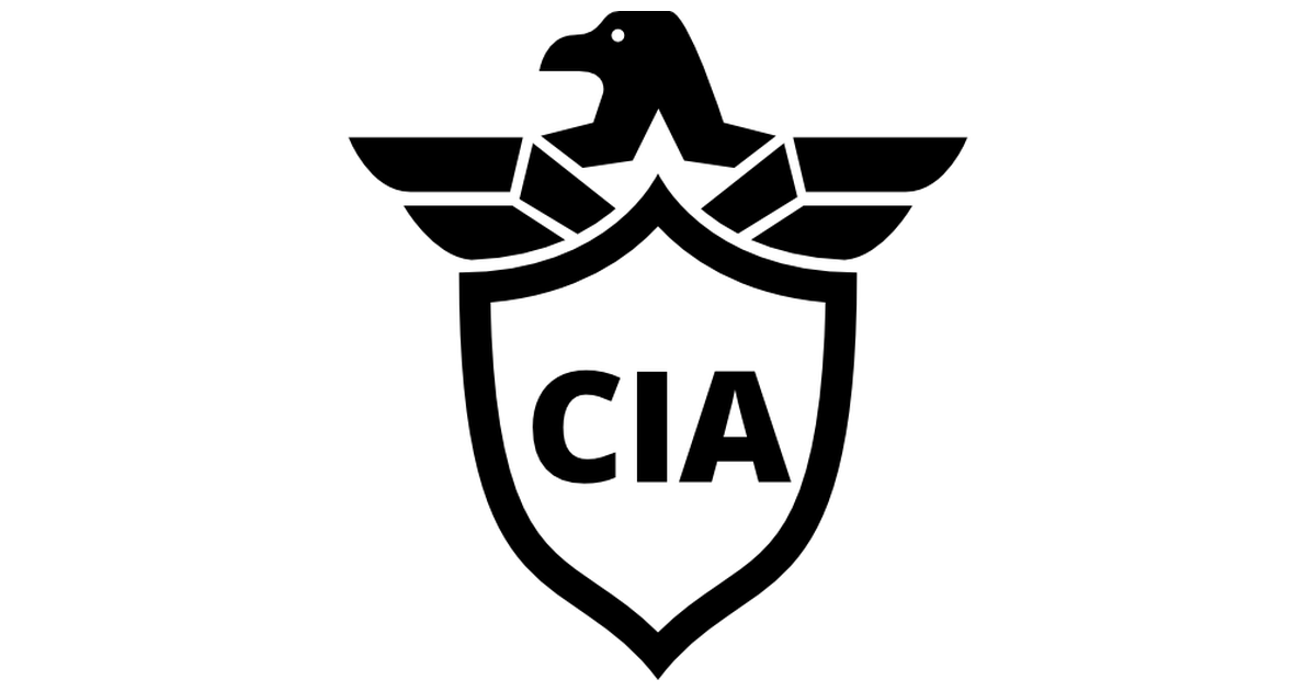 CIA Shield Symbol With An Eagle.