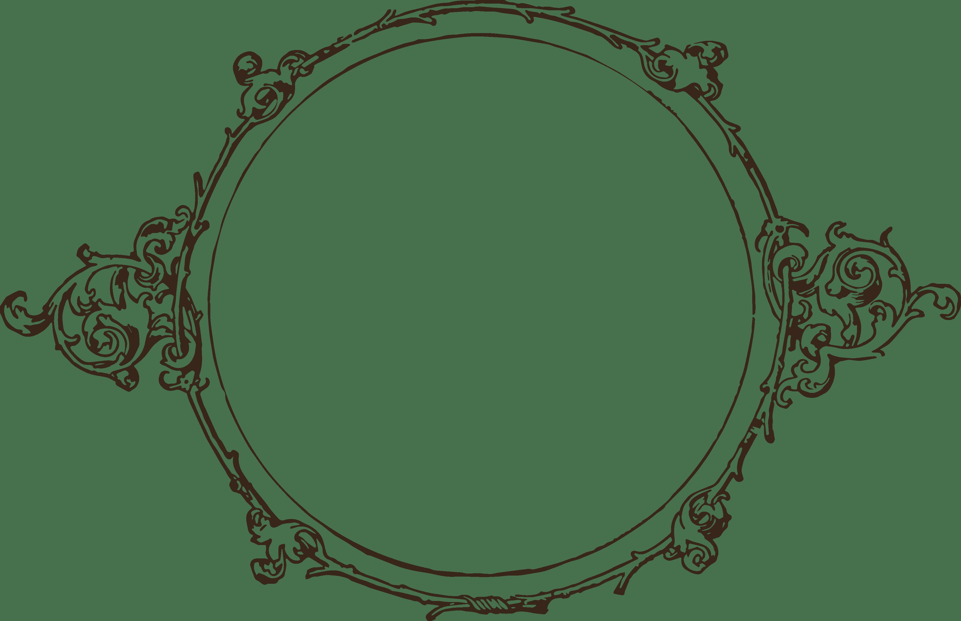 Simple Circle Frame transparent PNG.