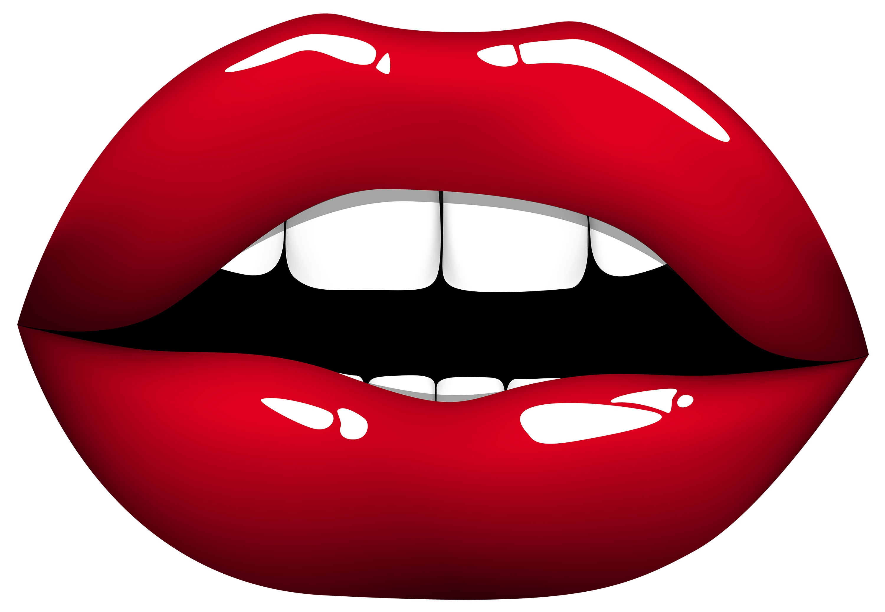 Red Lips PNG Clipart.