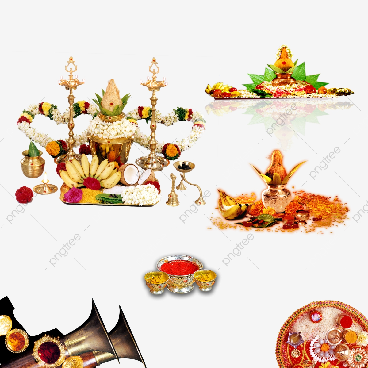 Indian Wedding Elements Clipart, Indian Wedding Elements.
