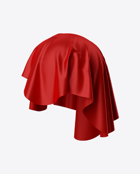 Download Red Satin Cloth Transparent PNG on Yellow Images 360°.