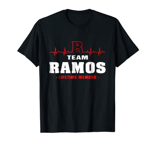Amazon.com: Team Ramos lifetime member shirt surname, last.