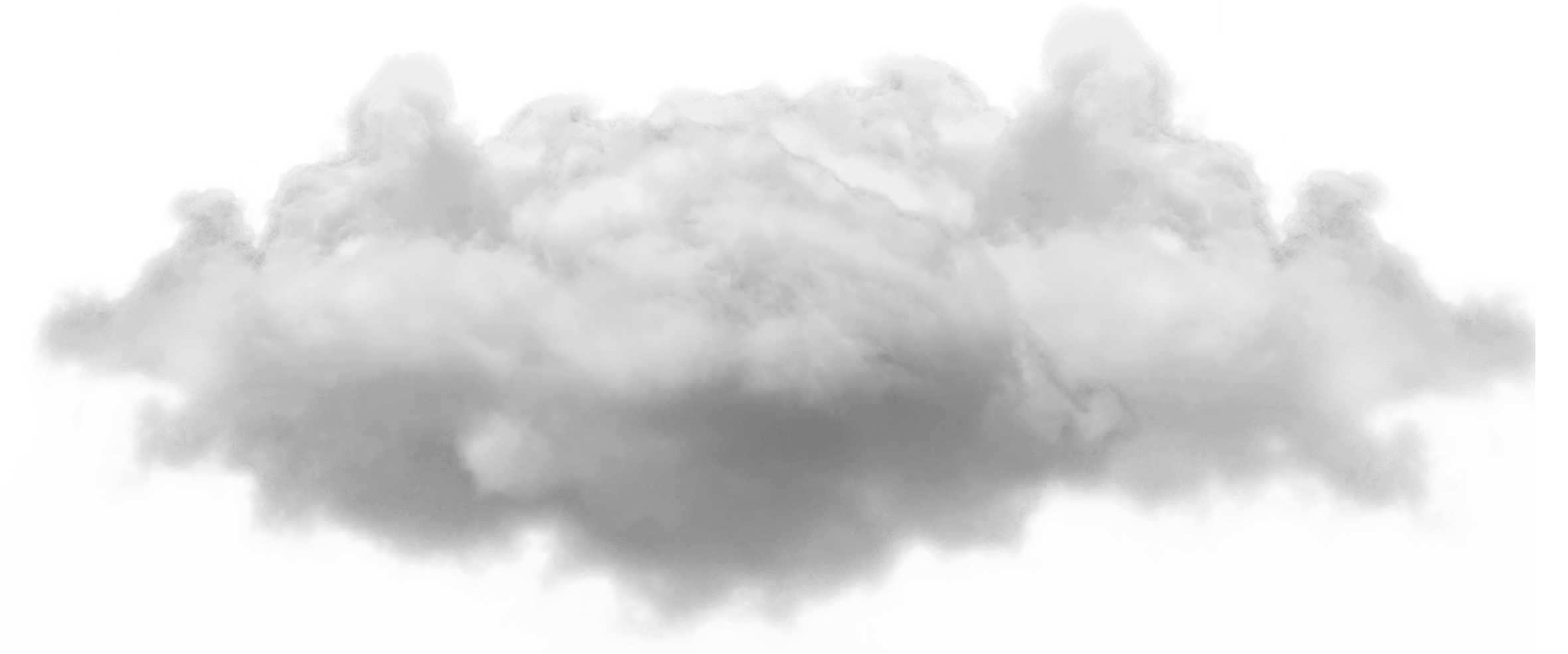Small Single Cloud transparent PNG.