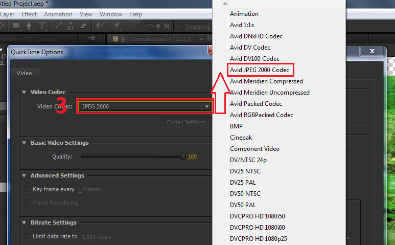All Alpha channel Codec In Adobe After Effects CC.