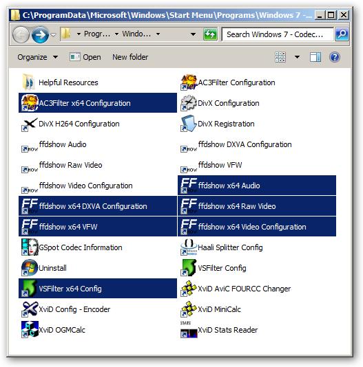 Windows 7 Codec Pack.