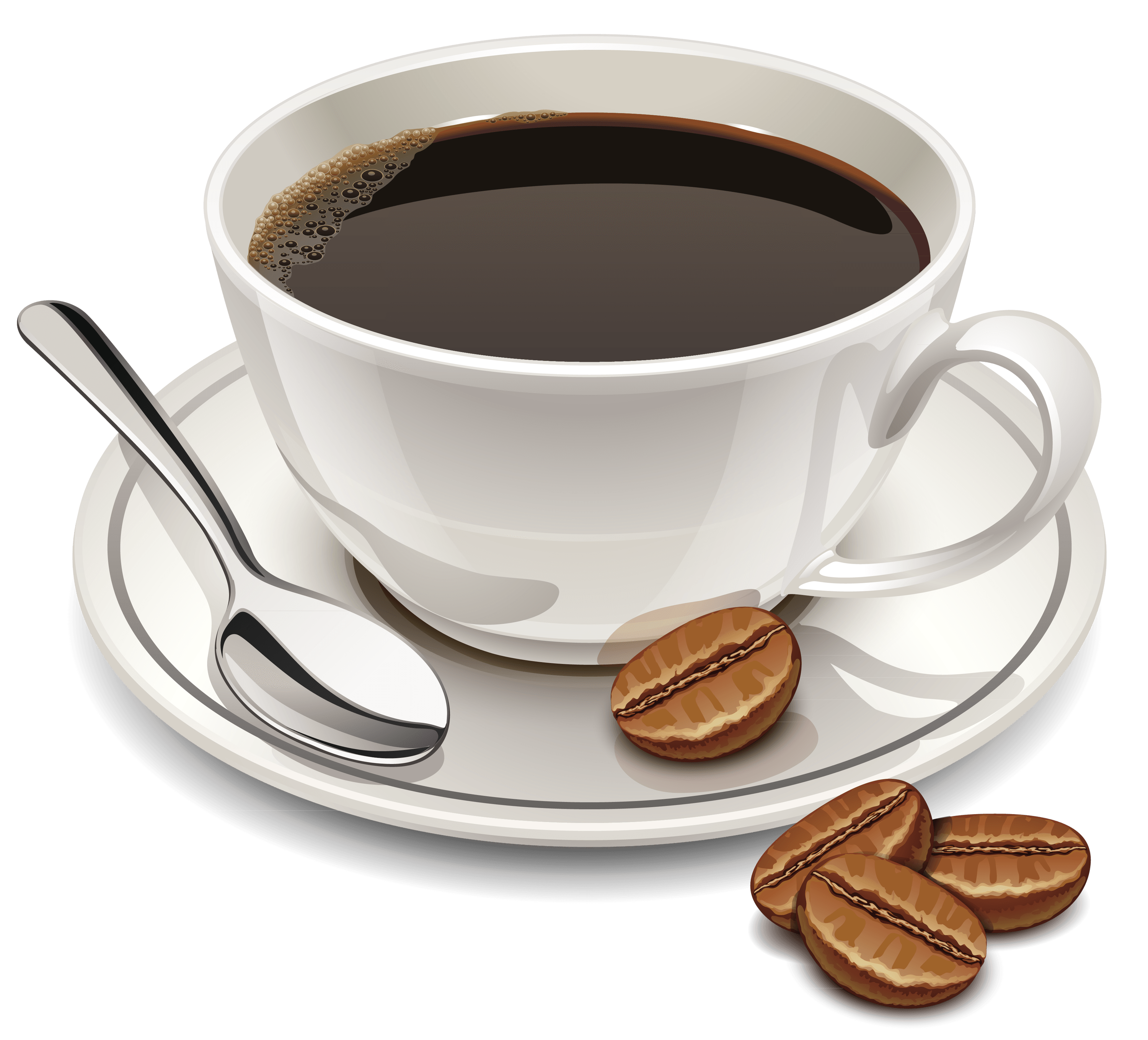 Coffee and Beans transparent PNG.