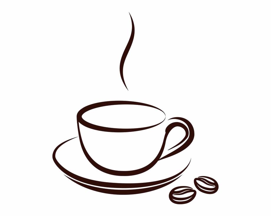 Drawn Tea Cup Cafe Mug.