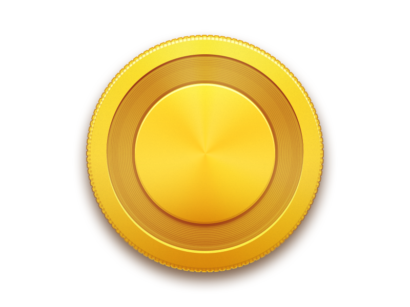 Coin Png Vector #3829.