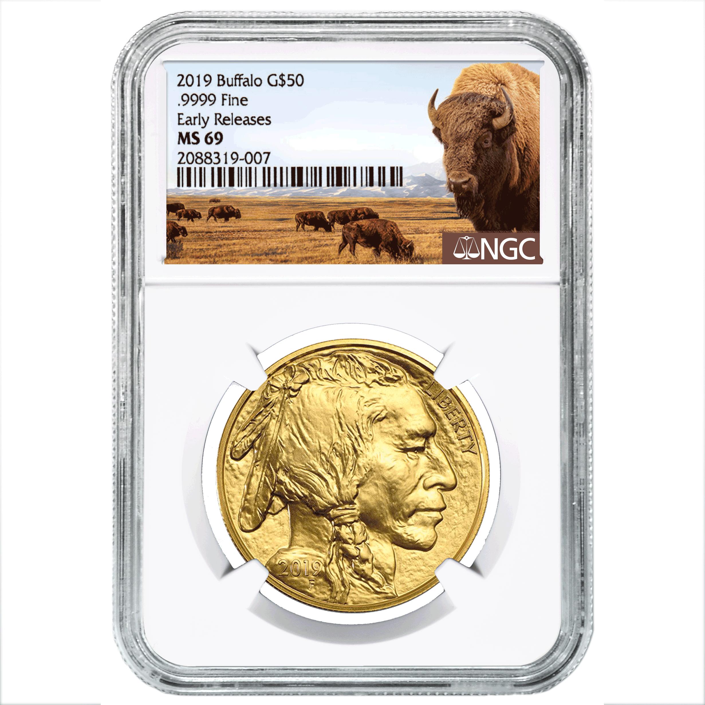 2019 American Buffalo Gold MS.